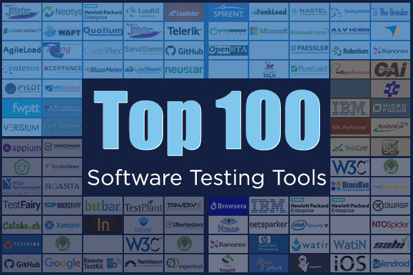 List of 100 Software Testing Tools to Meet Your Testing Objectives