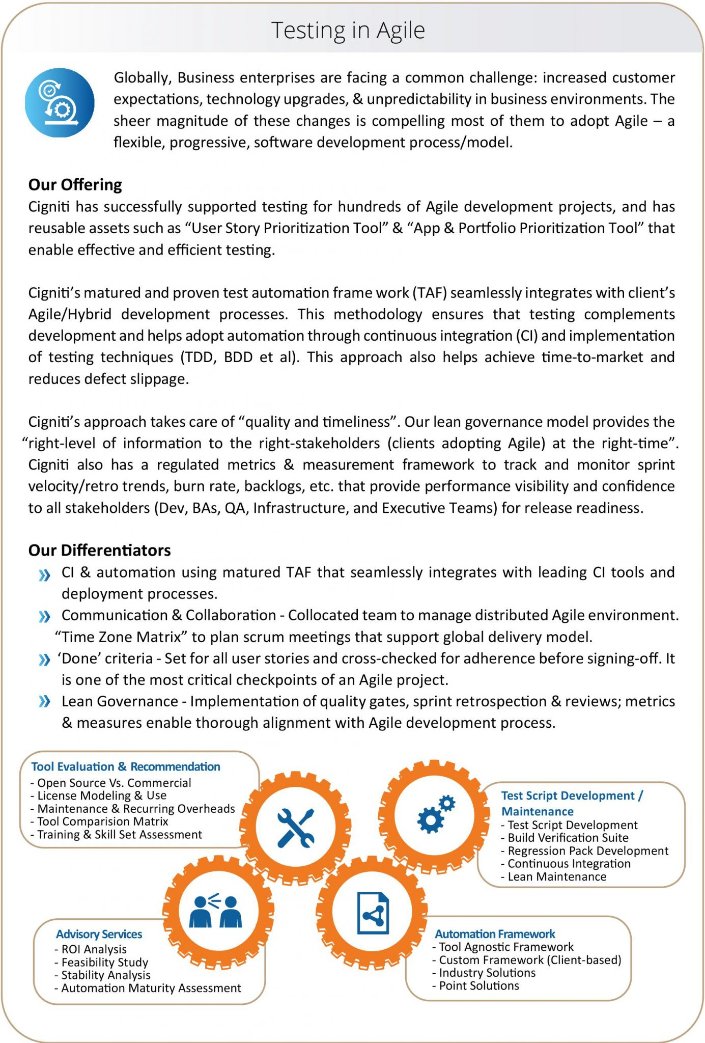 services corporate overview technologies agile testing service sheet