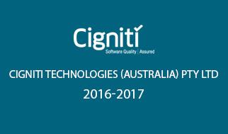 Cigniti Technologies (Australia) Pty Ltd 2016-2017