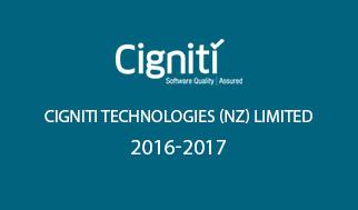 Cigniti Technologies (NZ) Limited 2016-2017