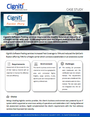 cignitis-software-testing-services-improved-quality-assurance-maturity-freight-carrier-12000-employees-largest-dedicated-air-fleet-ground-network-canada-coast
