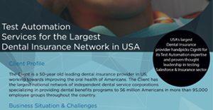 USA's largest Dental Insurance provider handpicks Cigniti