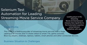 selenium test automation for movie service company