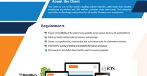 E-Commerce Website Testing for Leading Retail Client