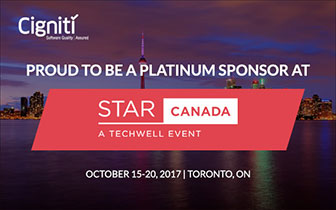 PROUD TO BE A PLATINUM SPONSOR AT STAR CANADA - Cigniti