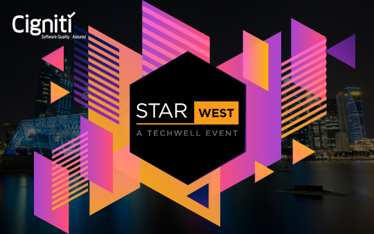 PROUD TO BE A PLATINUM SPONSOR AT STAR WEST - Cigniti